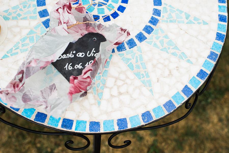 Namensschild Hochzeitspaar
