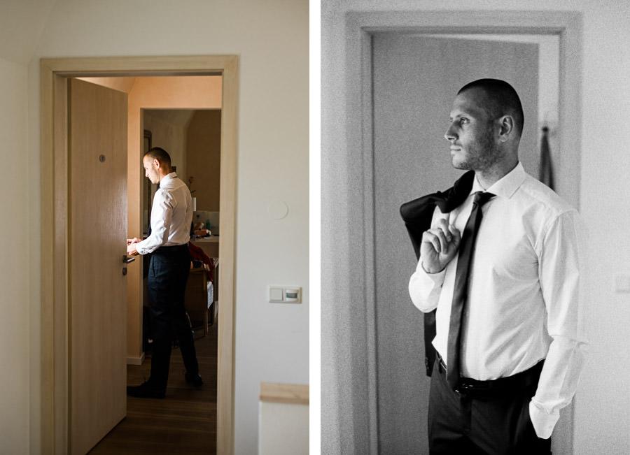 Stylischer Bräutigam ist bereit