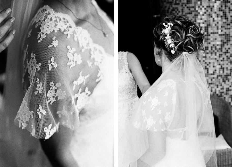Nahaufnahmen Brautkleid von Kisui