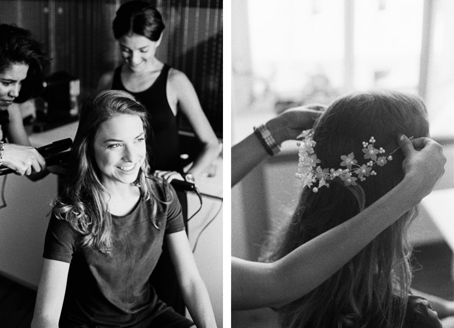Brautportrait während Hochzeitsvorbereitungen