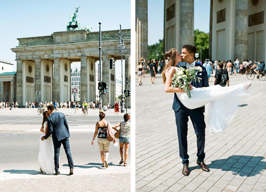 Hochzeitsfotos am Brandenburger Tor