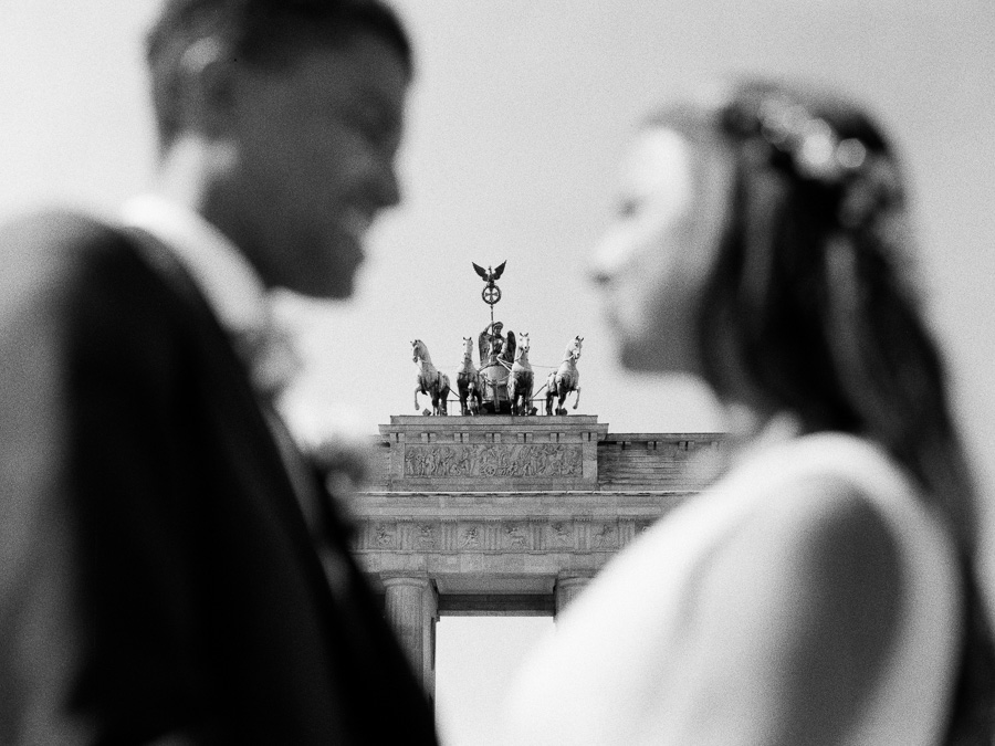 Hochzeitsfoto mit Brandenburger Tor