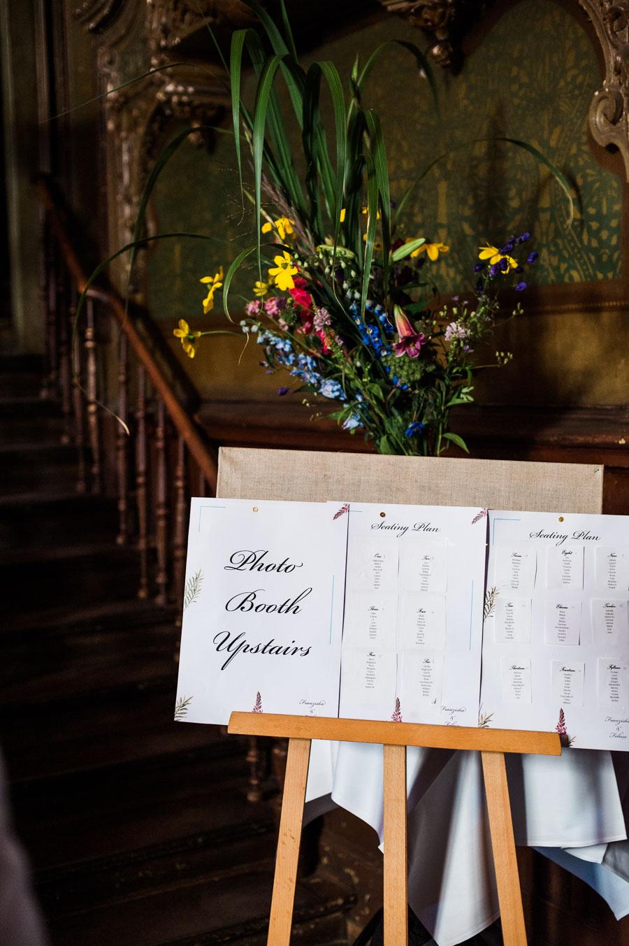 Kreativer Hochzeitssitzplan