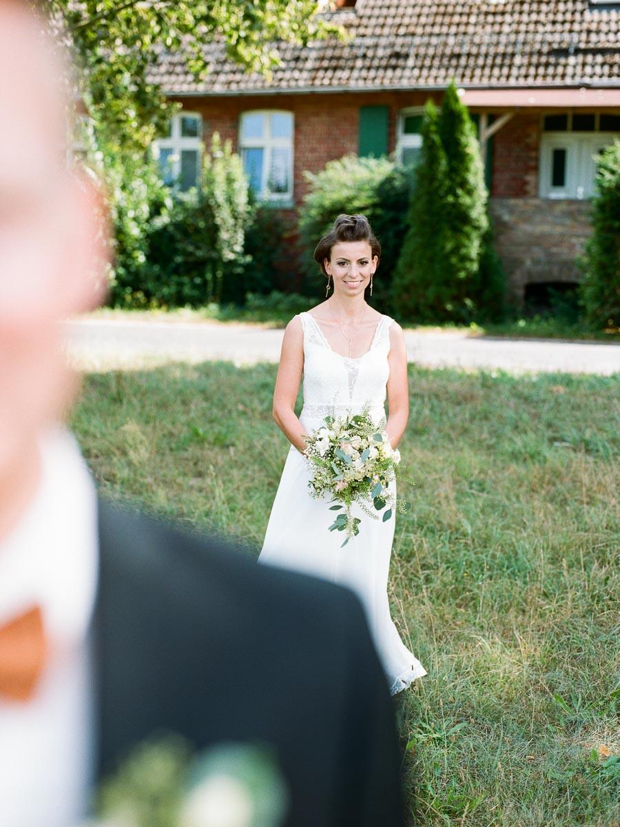 First Look Hochzeitstag