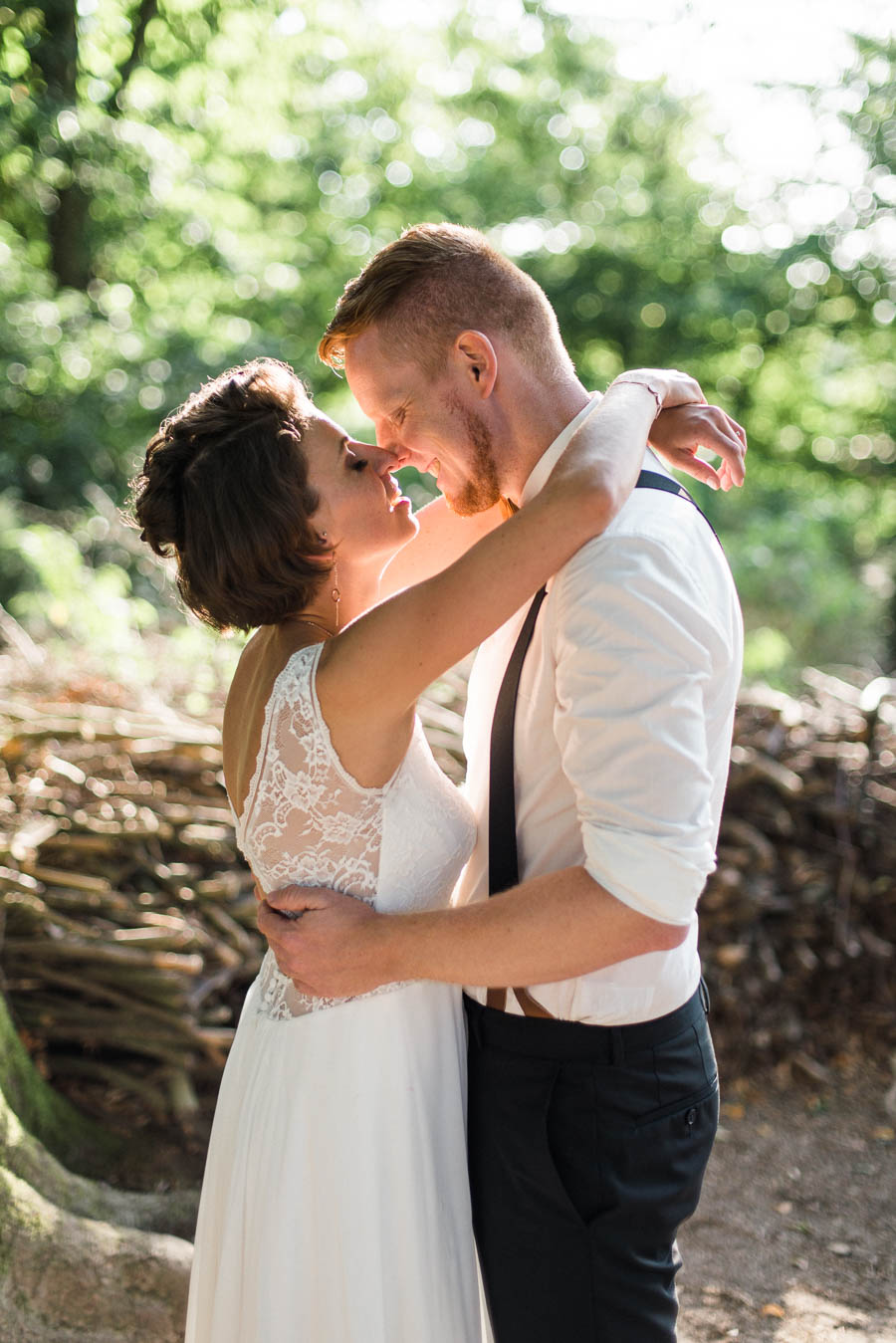 Hochzeit Paarfoto Zärtlichkeit