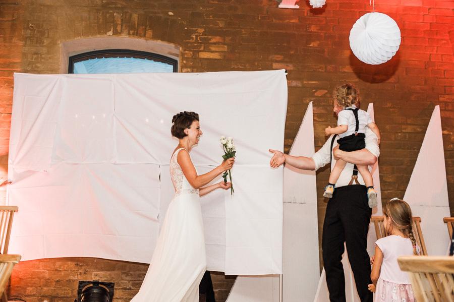 Herzblatt Spiel auf Hochzeit
