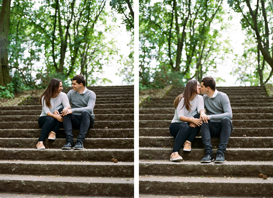 Paar beim Fotoshooting in Berlin-Rehberge