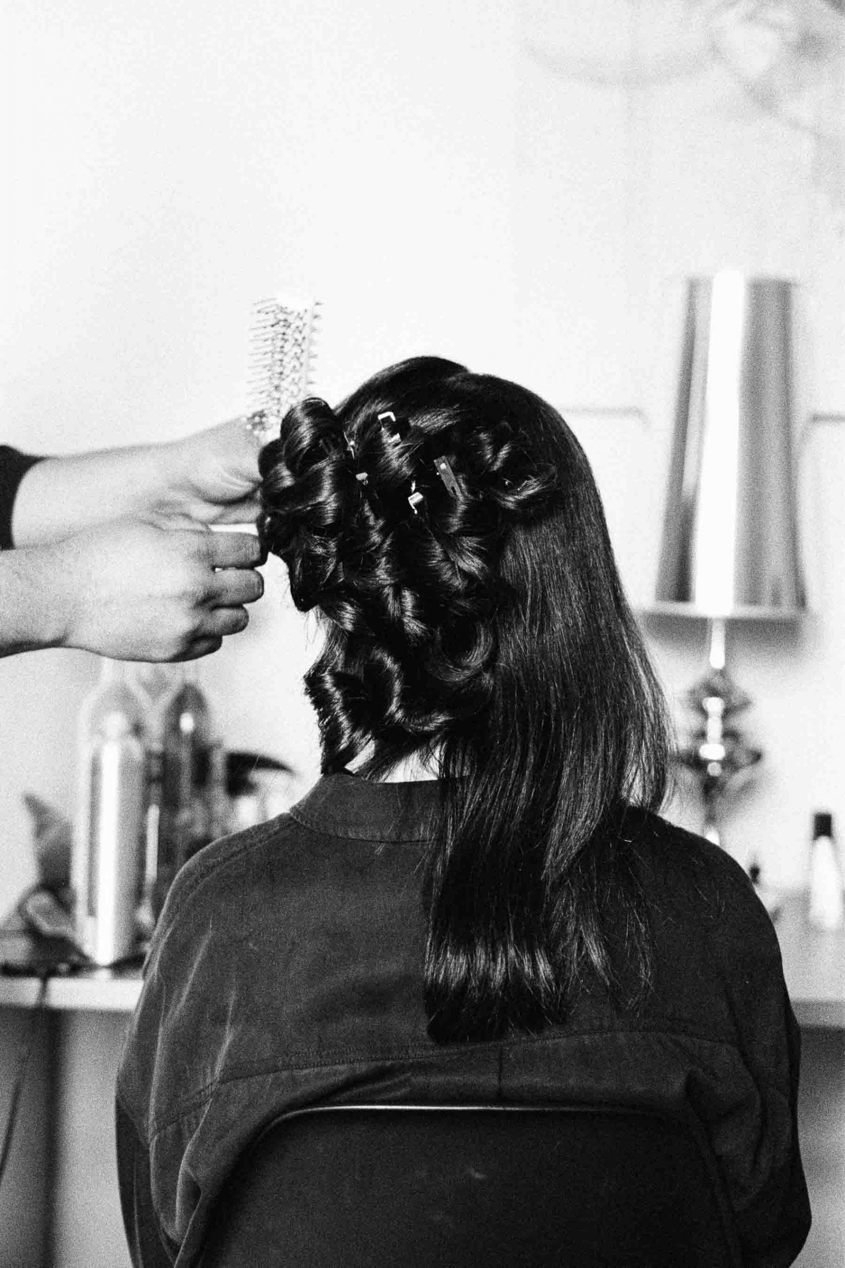 Haarstyling der Braut