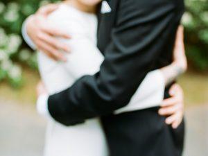 Absichtlich unscharfes Hochzeitsfoto